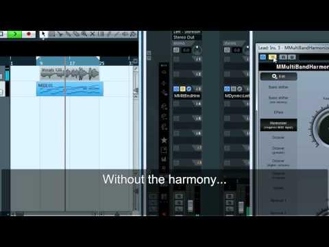 Creating vocals using MMultiBandHarmonizer