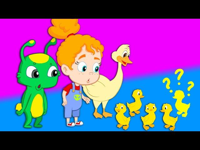 Cinco patinhos rima - Groovy o Marciano Rimas para crianças e desenhos animados