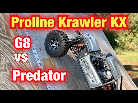 Proline Crawler TA Tire test with Capra