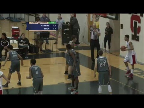 CMNtv Sports - Boys Basketball - Troy Athens vs Troy HS - Feb 5, 2016