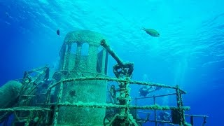 Scuba diving Ex-USS Kittiwake Grand Cayman part 1 raw & uncut