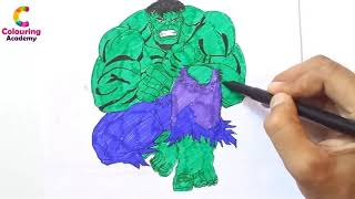 Avengers Infinity War Hulk   Avengers Coloring pages   Watch How to Draw Hulk