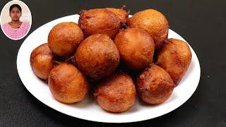 டீ கடை ஸ்வீட் போண்டா இதுபோல செஞ்சி பாருங்க | Snacks Recipes in Tamil