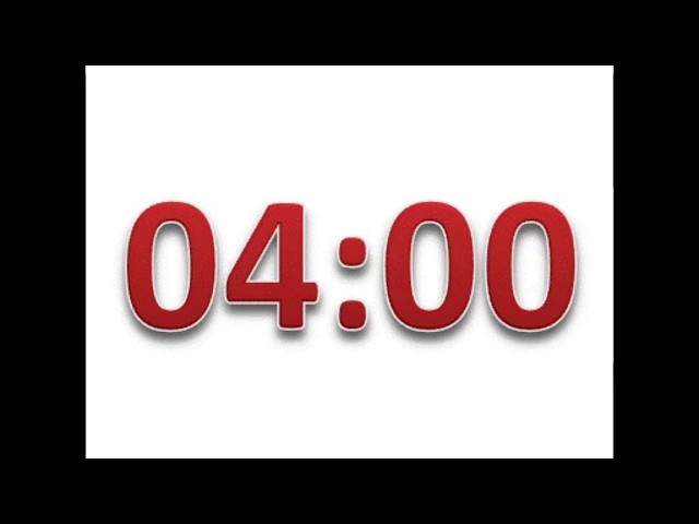 four minute timer with calming music