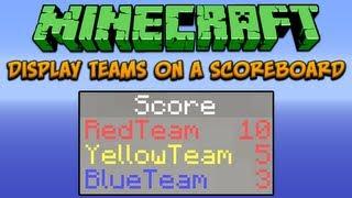 Minecraft: Display Teams On A Scoreboard Tutorial