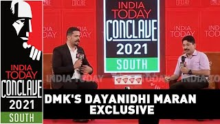 DMK's Dayanidhi Maran Speaks About Jayalalithaa, MK Stalin, BJP & AIADMK   India Today Conclave 2021
