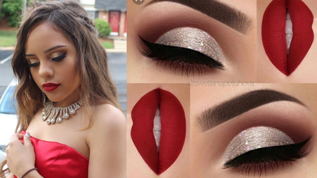 Maquillaje Para Graduación Fiesta Vestido Rojo Youtube