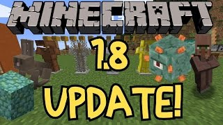 Minecraft 1.8 Update Overview!  NEW BOSS!  NEW MOBS, BLOCKS AND KILLER RABBIT!