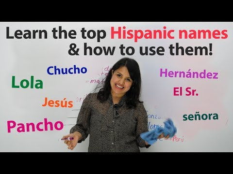 Learn Spanish Language And Culture: Hispanic First Names, Last Names, And Nicknames