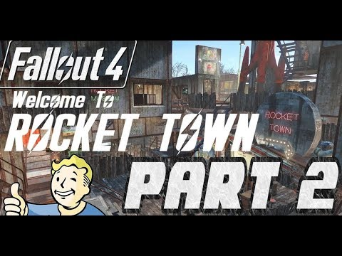 FALLOUT 4: The Most AMAZING Settlement Base Tour Build Ever !!! - Rocket Town (NO MODS)