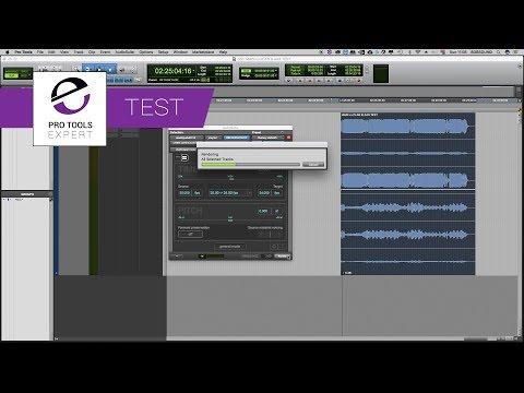 Comparison Test Three - Time Taken To Render Audio Using zplane elastiqueAAX