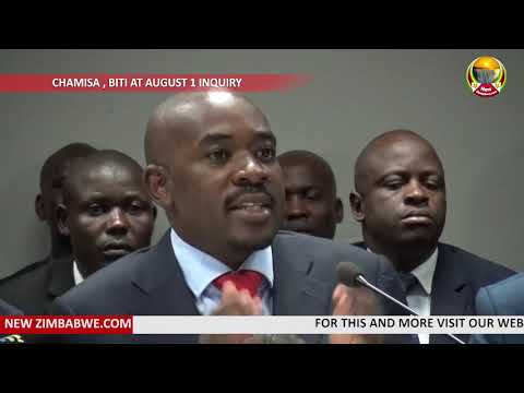 Chamisa, Biti at August 1 Inquiry