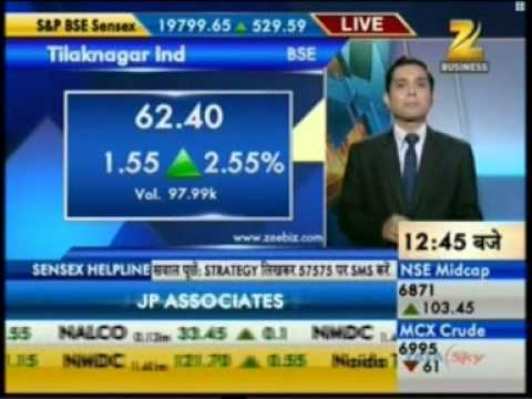 Zee Business Sensex Strategy Helpline 10 Sept 2013 PR Financial View On Tilaknagar Industries ltd