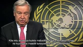 Secretary-General WHD message - Kiswahili
