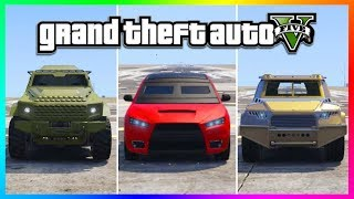 NEW BEST ARMORED CAR IN GTA ONLINE & BULLETPROOF TESTS - INSURGENT VS KURUMA VS DUKE O DEATH (GTA 5)
