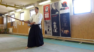 boken suburi 4 directions/ shiho/négy irány [TUTORIAL] Aikido basic weapon technique 合気剣
