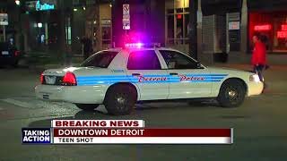 15-year-old shot in downtown Detroit