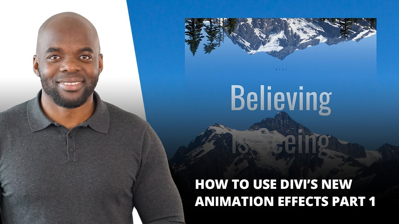 How to Use Divi's New Animation Effects Part 1