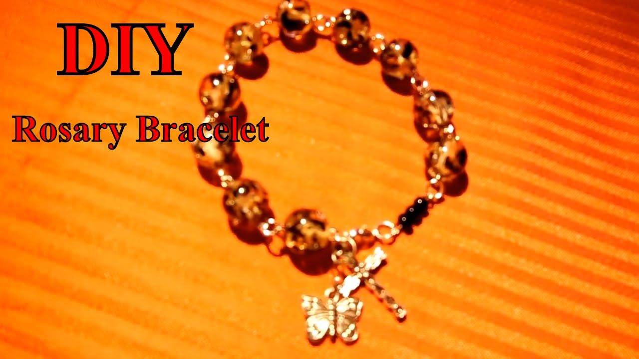 Rosary Bracelet DIY - YouTube
