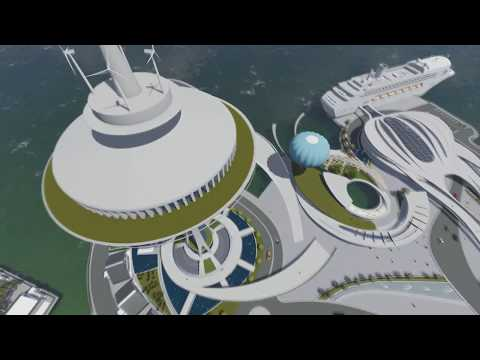 Architecture animation Capstone project Gaza seaport مشروع ميناء #غزة البحري