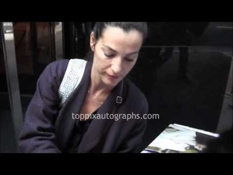 Ayelet Zurer  Signing Autographs at her hotel in NYC