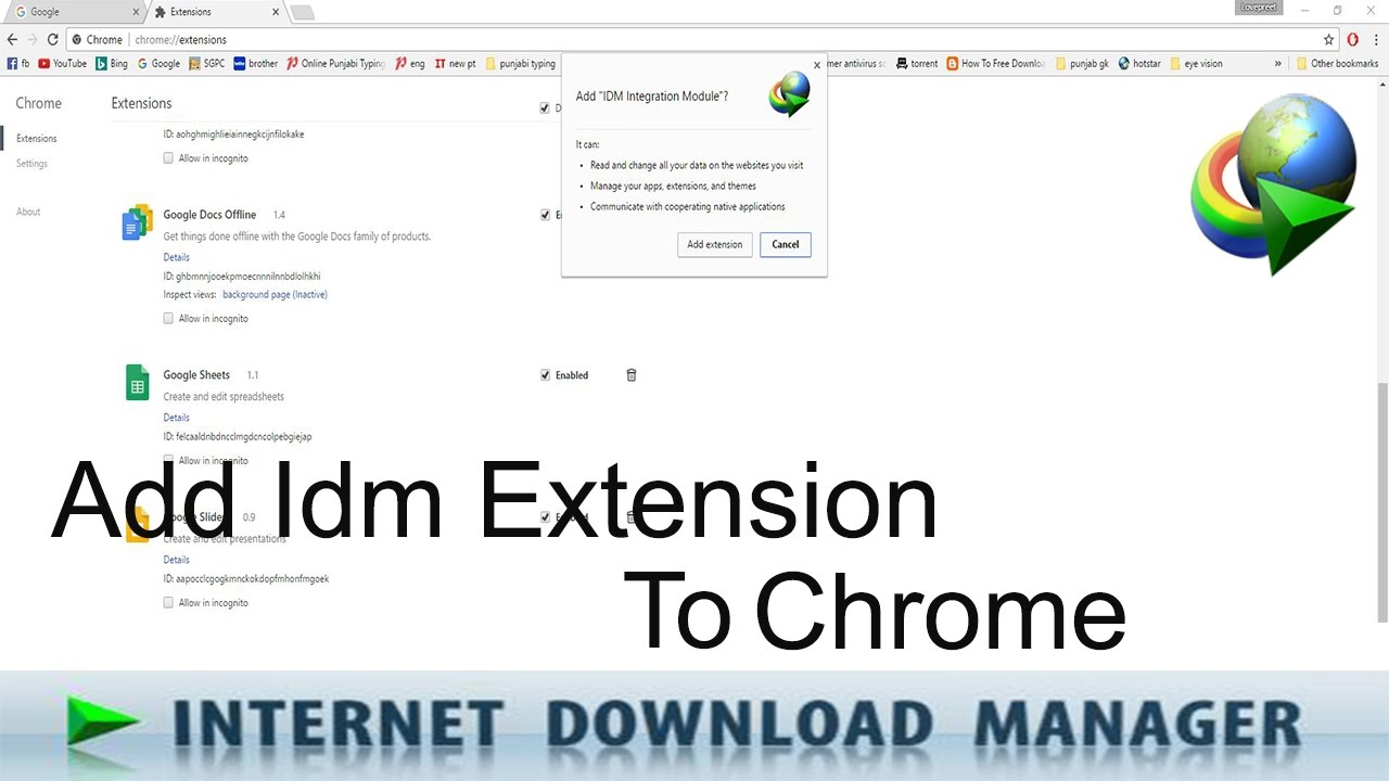 How to add idm extension to google chrome manually youtube how to add idm extension to google chrome manually ccuart
