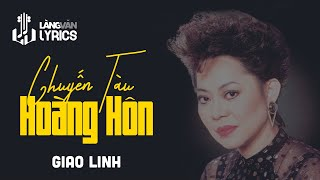 Chuyến Tàu Hoàng Hôn | Giao Linh | Karaoke | Official MV