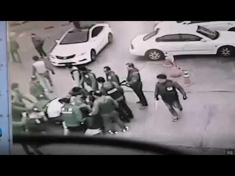 광주 조직폭력배 검거 현장 CCTV
