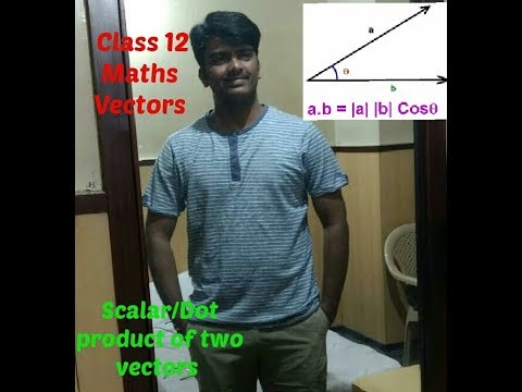 Scalar /Dot Product of two vectors CBSE/NCERT Class 12 Mathematics part 3 by Shivanand Sir