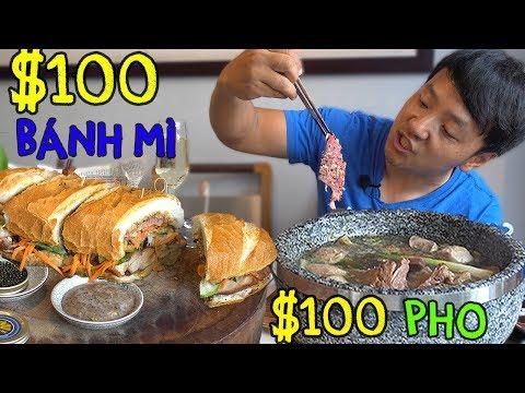 $100 DOLLAR Pho & $100 Bánh mì in Saigon Vietnam
