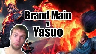 Brand Main Vs Yasuo - Full Commentary Gameplay - League of legends season 7