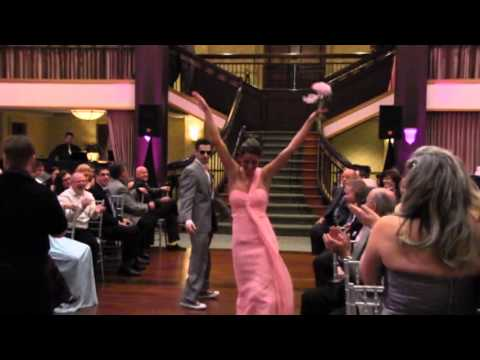 Bridal Party Dancing Down The Aisle During Ceremony Dan And Jessica S Wedding Day You