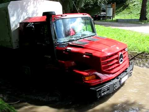 Swimming Trucks Mercedes Zetros 6x6 Goes For A Plunge Youtube