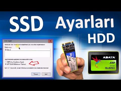 SSD ayarları [Ssd Optimization] Montaj sonrası SSD +M2 Sata başlatmak (GPT  veya MBR)