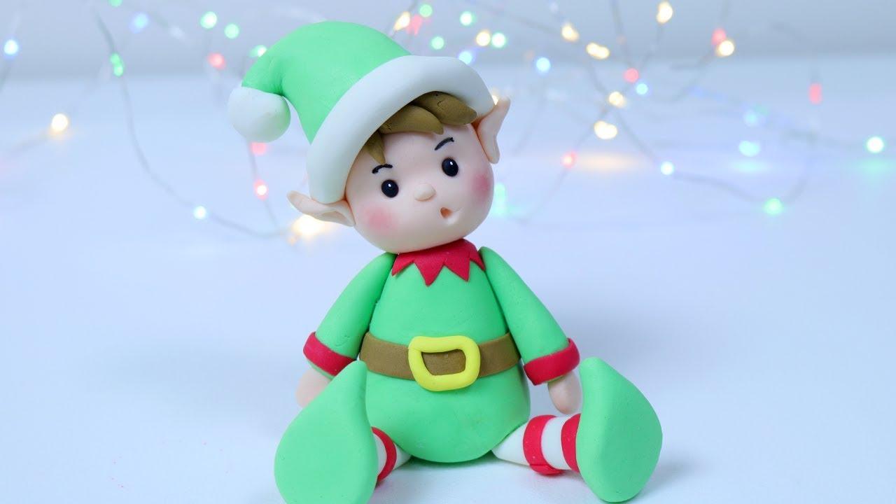 how to make christmas elf cake topper christmas cake decorating