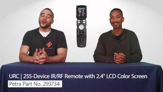 urc mx 990 255 device ir rf remote with 2 4 lcd color screen