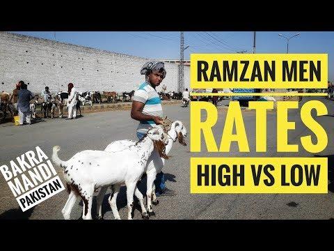 MANDA HAI SUB SASTA HA - Bakra Mandi Visit Ramzan Special of Bakra Eid 2018