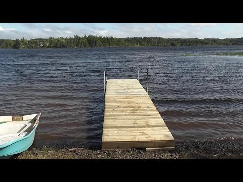 How to build a floating dock using barrels...  detailed step by step instructions