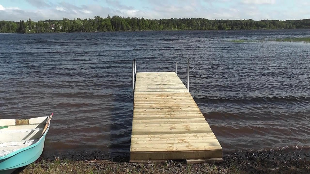 How to build a floating dock using barrels detailed for How to build a small lake