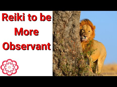 Reiki To Be More Observant.