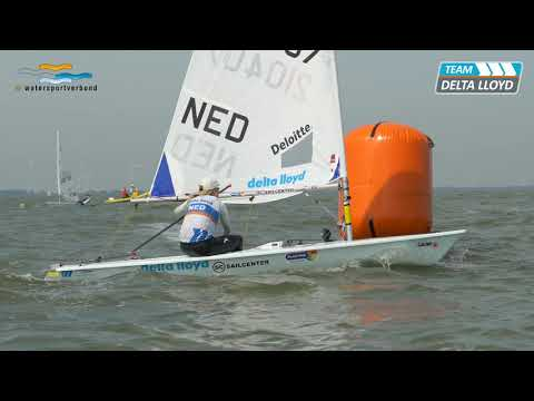 WK Laser Radial in Medemblik in volle gang