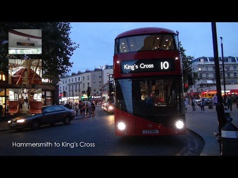 London United LT164 New Routemaster (NBFL) @ Rt.10 Hammersmith to King's Cross