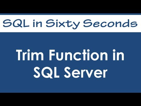 SQL SERVER - 2008 - Enhenced TRIM() Function - Remove