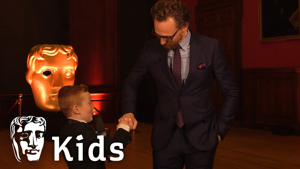 BAFTA Kids Young Presenter Braydon meets Tom Hiddleston