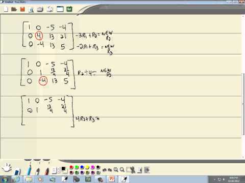 College Algebra: Matrix Solutions to Linear Systems