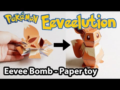 Pokemon Bomb - Papercraft Eevee Tutorial ( Original Design )