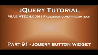 jQuery Button Widget