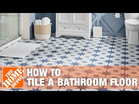 how to tile a bathroom floor the home depot 25434