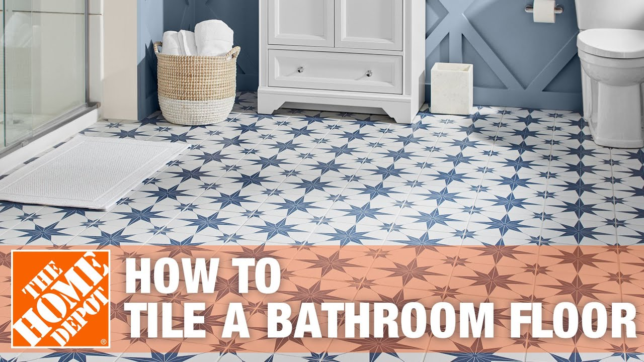 How to tile a bathroom floor the home depot youtube how to tile a bathroom floor the home depot dailygadgetfo Image collections