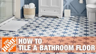How To Tile a Bathroom Floor - The Home Depot(, 2008-12-23T22:13:45.000Z)